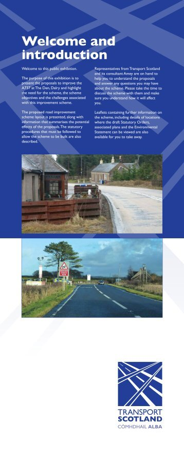Exhibition Panels - Transport Scotland