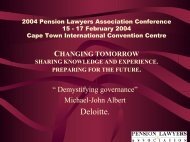 2004 Pension Lawyers Association Conference 15 - 17 February ...