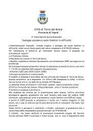 AVVISO PUBBLICO CONTRIBUTI 328 - Comune di Torre del Greco
