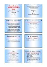 Sportello Unico attività produttive SUAP Competenze dell'ASL A chi ...