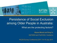 Persistence of Social Exclusion among Older People in ... - NATSEM