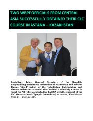 two wbpf officials from central asia successfully obtained ... - ABBF