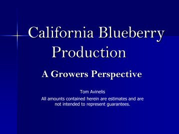 California Blueberry Production: A Grower's Perspective
