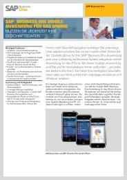sap® business one mobile anwendung  für das iphone - SAP.com