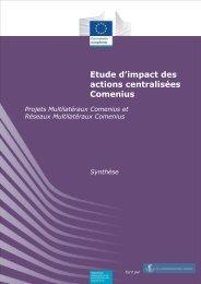 Etude d'impact des actions centralisées Comenius - Europa