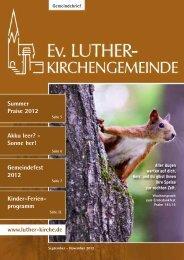 Gemeindefest 2012 - Ev. Luther-Kirchengemeinde Remscheid