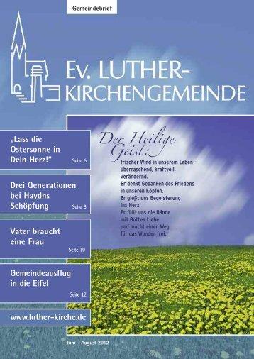 Lebendige Gemeinde - Ev. Luther-Kirchengemeinde Remscheid