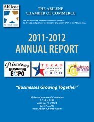 Annual Report 2012-2013.indd - Abilene Chamber of Commerce