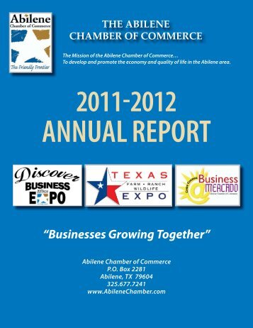 Annual Report 2012-2013.indd - Abilene Chamber of Commerce