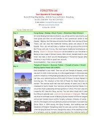 the essential of beijing 5 days / 4 nights - Forceten Travel Agency ...