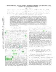 arXiv:astro-ph/0505386 v1 18 May 2005 - iucaa
