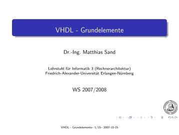 VHDL - Grundelemente - Friedrich-Alexander-Universität Erlangen ...