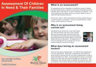 Assessment Of Children In Need & Their Families
