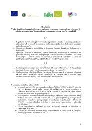 Regulamin konkursu - Ministerstwo Rolnictwa i Rozwoju Wsi
