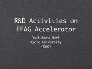 FFAG Status and Plans in Japan