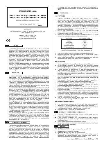 MK053 BINDAZYME™ ASCA IgA umane Kit EIA - MK054 - inova