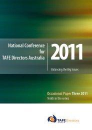 Occasional Paper three - TAFE Directors Australia