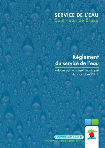 Règlement du service de l'eau (pdf - 871,86 ko) - Ville de Saint Jean ...