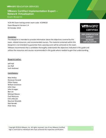 Vcdx nv design defense blueprint v11 vcix nv exam blueprint guide v14 malvernweather Gallery