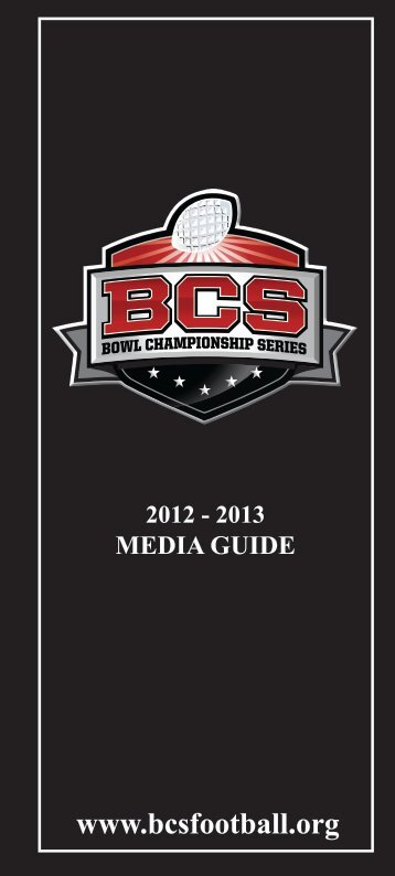2012-13 BCS Media Guide - Orange Bowl