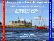 The Sound as a common Swedish-Danish protected sea World ...