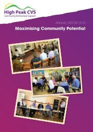 To facilitate liaison, collaboration and ... - High Peak CVS