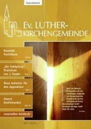März 2012 - Ev. Luther-Kirchengemeinde Remscheid
