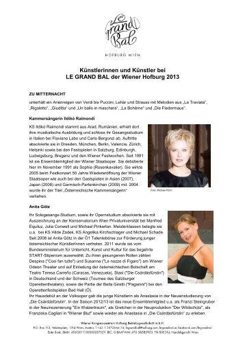 Künstlerinnen und Künstlern der Mitternachseinlage ... - Le Grand Bal