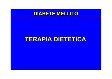 TERAPIA DIETETICA - Medicina e chirurgia