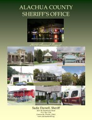 2010 Annual Report - Alachua County Sheriff's Office