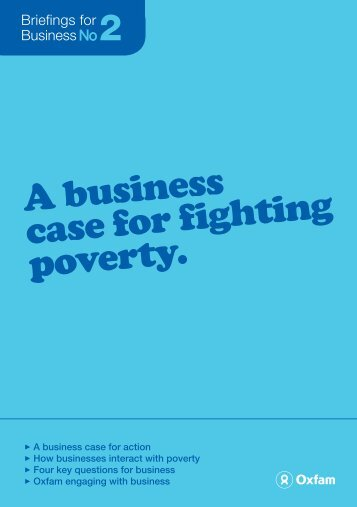 A business case for fighting poverty - Oxfam New Zealand