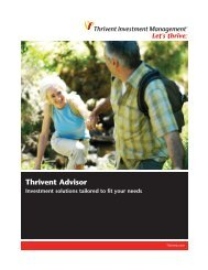Brochure (Link opens in new window) - Thrivent Financial for ...