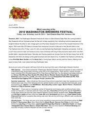 2010 washington brewers festival - Washington Beer Commission