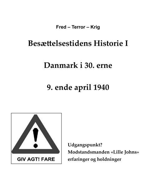 Besættelsestidens Historie I Danmark i 30. erne 9 ... - Aage Staffe