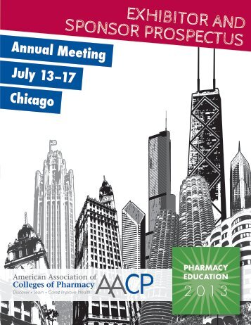 Pharmacy Education 2013 Exhibitor Prospectus - AACP
