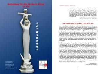 Texte als PDF-Datei herunterladen - China Zentrum eV