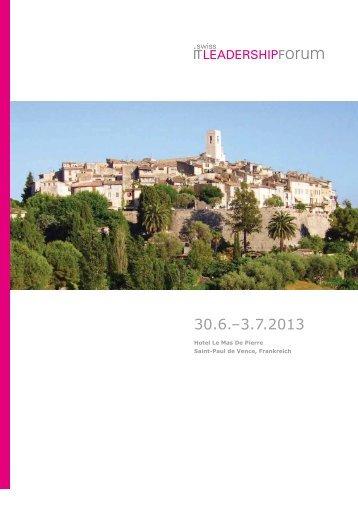 Programm 2013 - Swiss IT Leadership Forum
