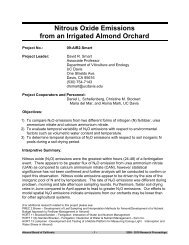 Nitrous Oxide Emissions from an Irrigated Almond Orchard