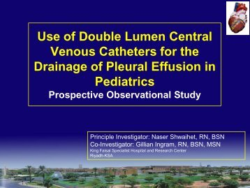 Use of Double Lumen Central Venous Catheters for ... - RM Solutions