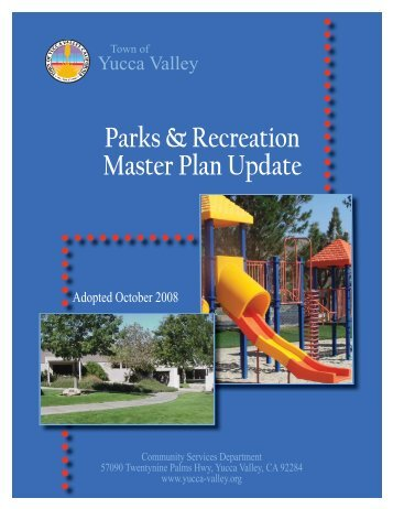 Parks & Recreation Master Plan Update - Town of Yucca Valley