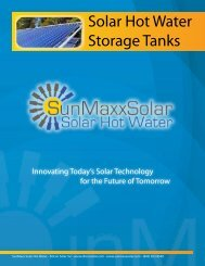 Solar Hot Water Storage Tanks - SunMaxx Solar