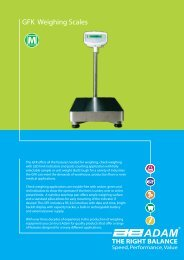 GFK Weighing Scales - Brechbuhler Scales, Inc.