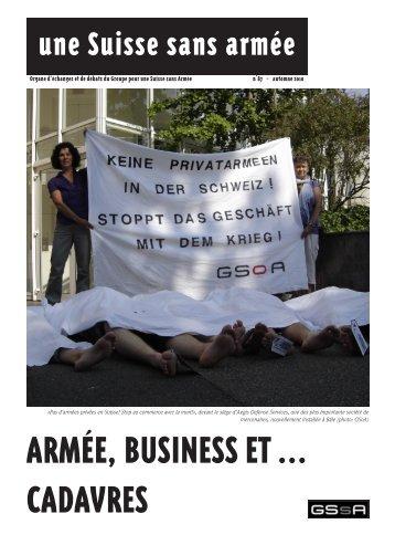 Nouvelles du secrétariat - Groupe pour une Suisse sans armée ...