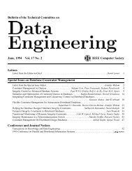 Bulletin of the Technical Committee on June - IEEE Computer Society