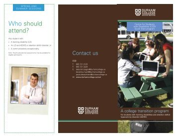 Quickstart Brochure - Durham College