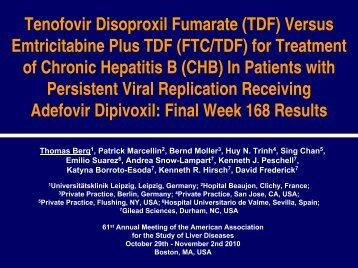 Versus EmtricitabinePlus TDF - HIVandHepatitis.com