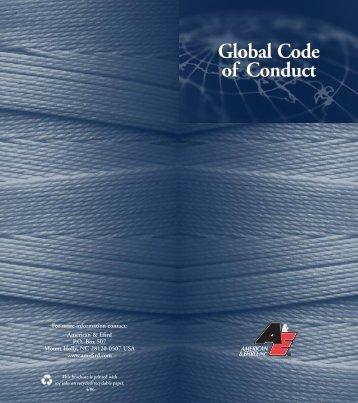 Global Code of Conduct Global Code of Conduct - American & Efird ...