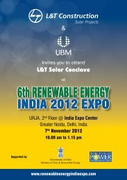 L&T Solar Conclave & - 7th Renewable Energy India 2013 Expo