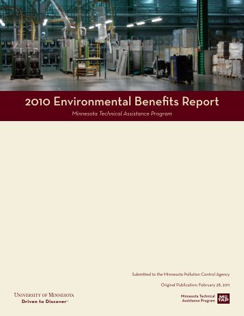 2010 Environmental Benefits Report - Minnesota Technical ...