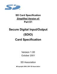 SD I/O Card Specification - SanDisk